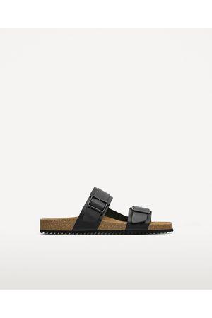 Men Sandals - Zara DOUBLE STRAP LEATHER SANDALS