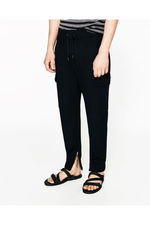 Men Cargo Trousers - Zara SOFT CARGO TROUSERS