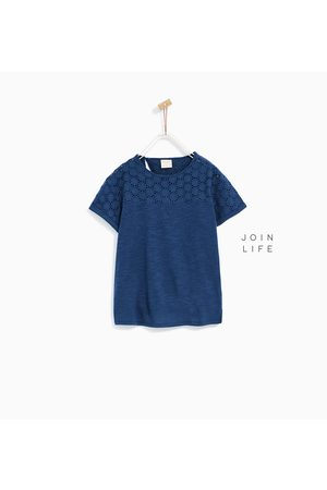 T-shirts - Zara BASIC EMBROIDERED T-SHIRT - Available in more colours