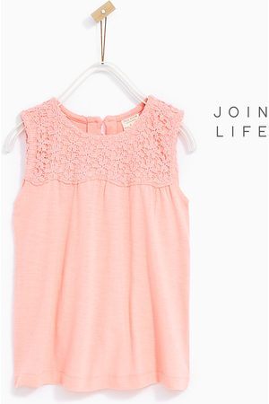 1723fc45895 T-shirts - Zara OPEN GUIPURE LACE T-SHIRT - Available in more colours