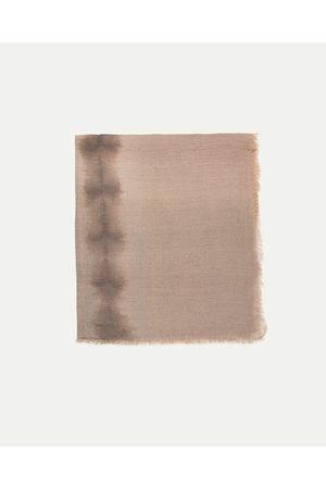 Women Scarves - Zara TIE-DYE LINEN SCARF