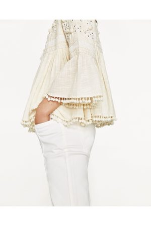 Women Jackets - Zara EMBROIDERED JACKET