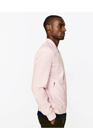 Men Leather Jackets - Zara FAUX LEATHER BOMBER JACKET - Available in more colours