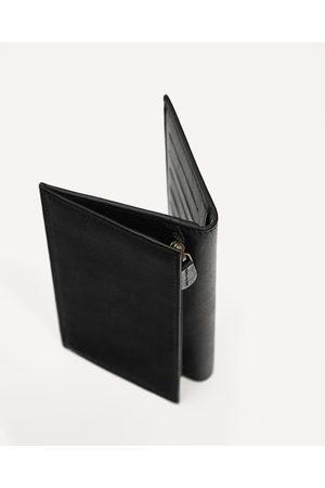 Men Purses & Wallets - Zara LEATHER OVERSIZED WALLET