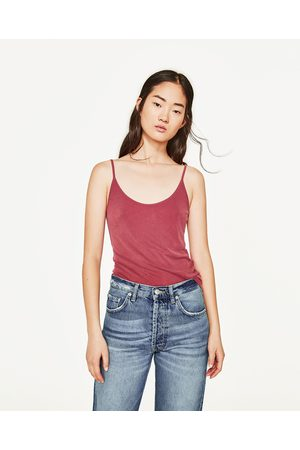 Women Tank Tops - Zara BASIC RIBBED TANK TOP - Available in more colours