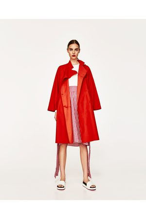 Women Trench Coats - Zara OVERSIZED CAPE TRENCH COAT