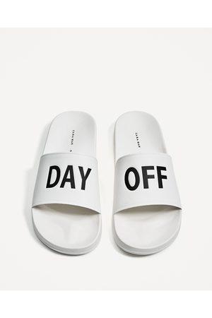 Men Sandals - Zara PRINTED SLIDES