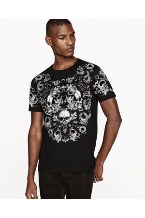 Zara skull t shirt available in more colours for Zara mens shirts sale