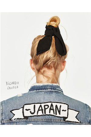 Women Denim Jackets - Zara DENIM JACKET WITH JAPAN DESIGN