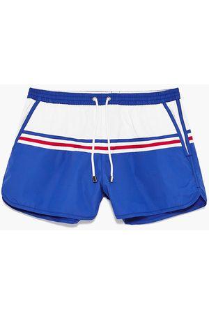 Men Swim Shorts - Zara RETRO SWIM SHORTS