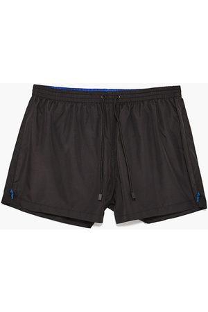 Men Swim Shorts - Zara SIDE ZIP SWIM SHORTS