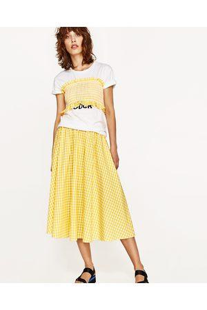 adcd125bd4f Women Midi Skirts - Zara Gingham check skirt and top