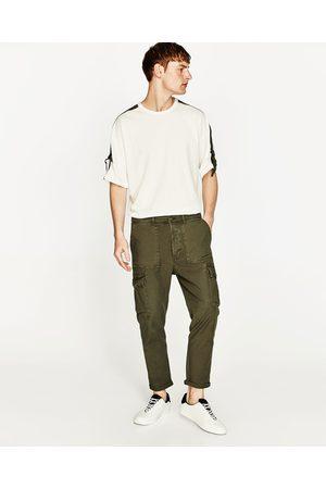 Men Cargo Trousers - Zara CARGO TROUSERS