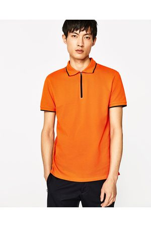 Men Polo Shirts - Zara POLO SHIRT WITH TERMO-SEALED ZIP - Available in more colours