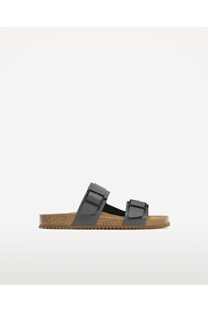 Men Sandals - Zara DOUBLE STRAP LEATHER SANDALS - Available in more colours
