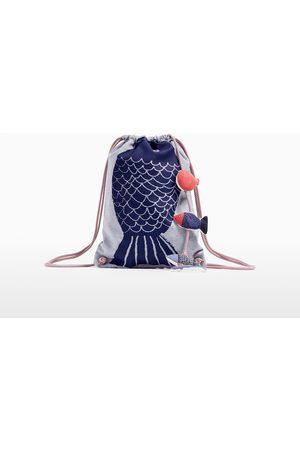 Rucksacks - Zara FISH PRINT DRAWSTRING BACKPACK
