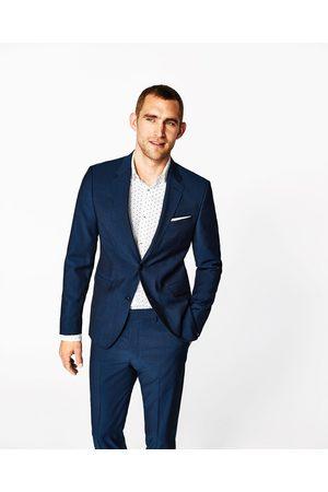 Men Blazers - Zara Ink blue mohair suit blazer