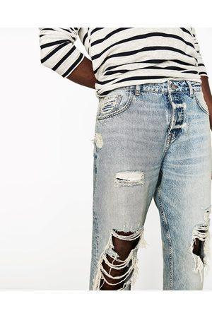 Men Trousers & Jeans - Zara RIPPED JEANS