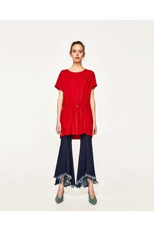 Women Tunics - Zara TUNIC WITH HIP DETAIL