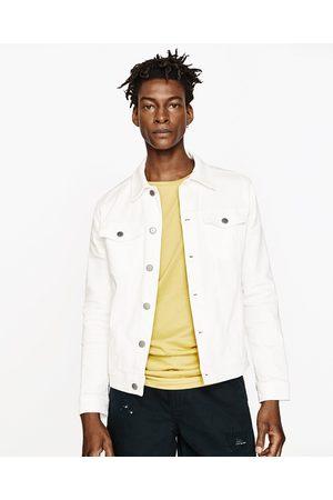 Men Denim Jackets - Zara PLUSH DENIM JACKET - Available in more colours