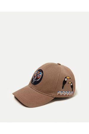 Men Caps - Zara CAP WITH PATCHES