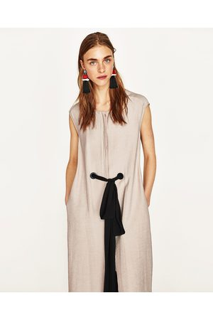Women Tunics - Zara LONG TUNIC WITH BELT