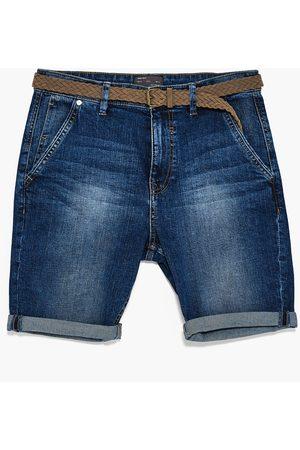 Men Bermudas - Zara DENIM CHINO BERMUDA SHORTS - Available in more colours