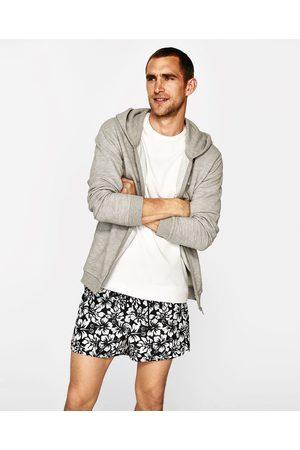 Men Swim Shorts - Zara PRINTED SWIM SHORTS