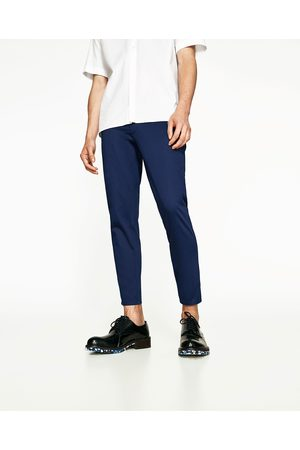 Men Chinos - Zara CROPPED CHINO TROUSERS - Available in more colours