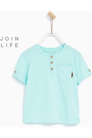 T-shirts - Zara BASIC BUTTON NECK T-SHIRT - Available in more colours