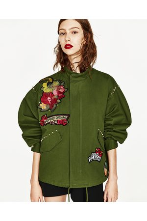 Women Parkas - Zara PARKA WITH EMBROIDERED BACK DETAIL.