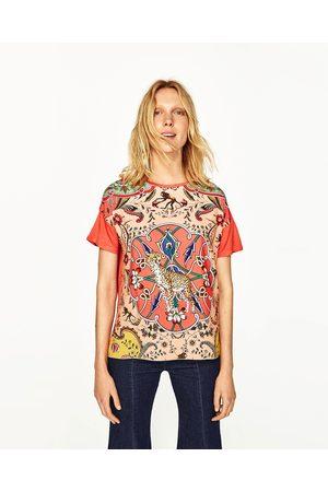 Women T-shirts - Zara ANIMAL PRINT T-SHIRT