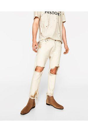 Men Trousers & Jeans - Zara RIPPED DESERT JEANS