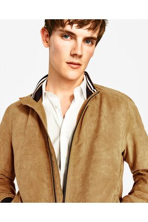 Men Leather Jackets - Zara SUEDETTE JACKET - Available in more colours