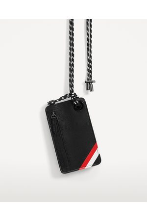 Men Phones - Zara MOBILE PHONE CARRYING CASE WITH STRIPS
