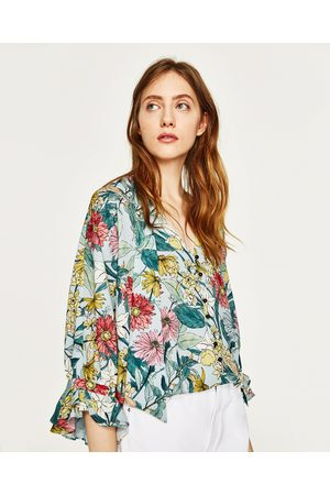 bda282c2e18 Zara versace-print women's shirts & blouses, compare prices and buy online