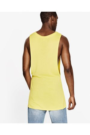 Men Tank Tops - Zara RIBBED TANK TOP - Available in more colours