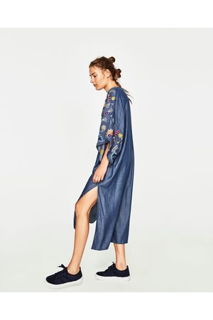 Zara embroidered women\'s dresses, compare prices and buy online