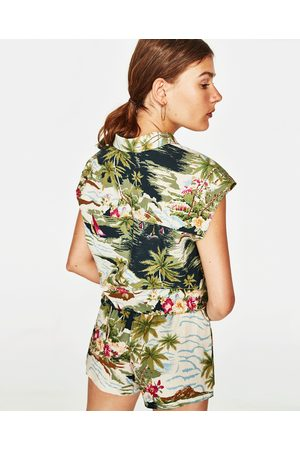 d4a14fd86e8a3b Zara top tropical women's tops & t-shirts, compare prices and buy online
