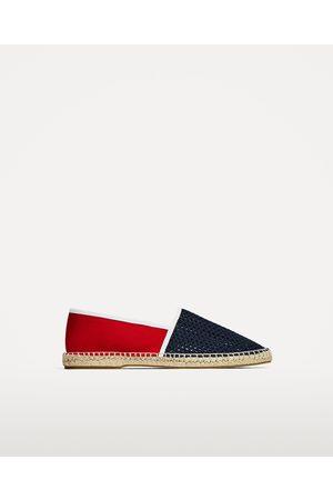 Men Espadrilles - Zara RED AND BLUE ESPADRILLES