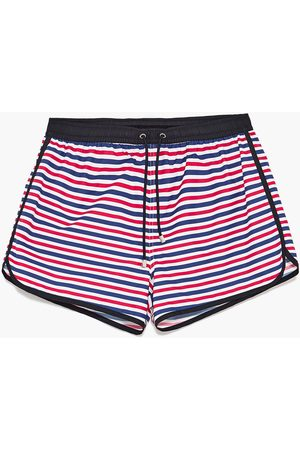 Men Swim Shorts - Zara MULTI-STRIPED SWIMMING TRUNKS