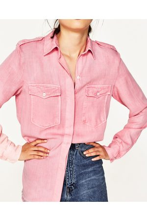 19b51748aecd64 Women Shirts - Zara MILITARY STYLE SHIRT