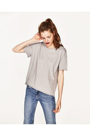 05ac5b35ee097 Women T-shirts - Zara SLUB KNIT COTTON T-SHIRT - Available in more