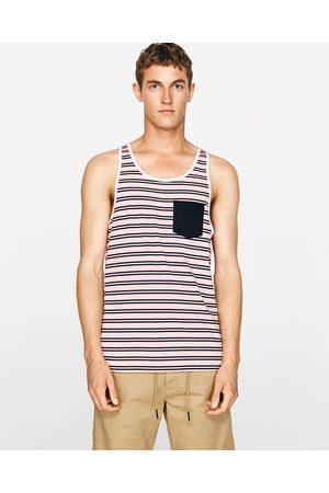 Men Tank Tops - Zara SLEEVELESS TOP - Available in more colours