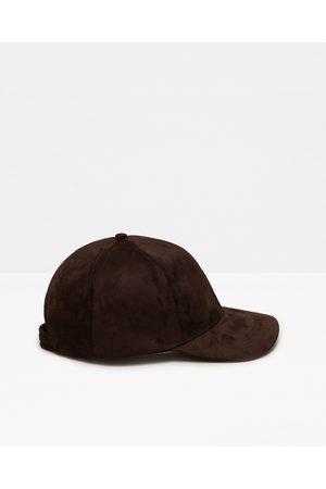 Men Caps - Zara FAUX-SUEDE CAP