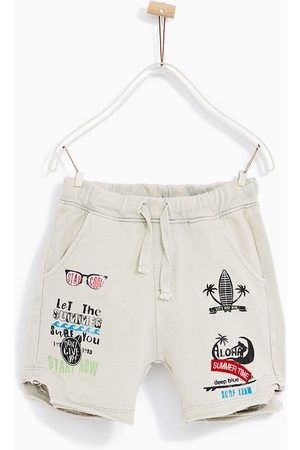 Boys Bermudas - Zara FADED BERMUDA SHORTS WITH PATCHES