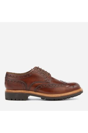 Men Brogues & Loafers - Men's Archie Hand Painted Leather Commando Sole Brogues