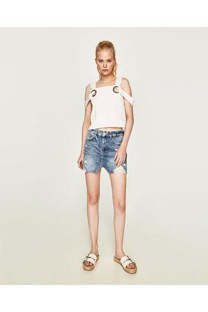 a8c3072f49 Buy Zara Denim Skirts for Women Online