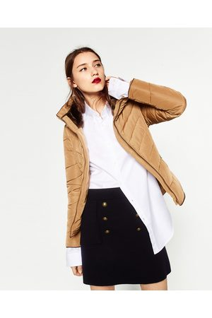 Women Zara SHORT ANORAK WITH HIDDEN HOOD - Available in more colours