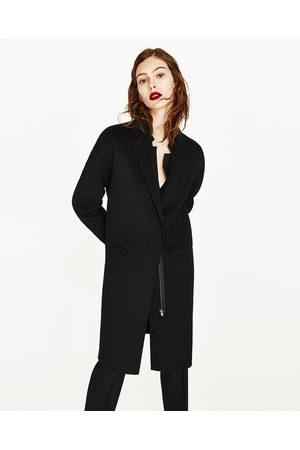 Zara Women S Coats Uk Clothes Shoes, Womens Black Wool Coats Uk